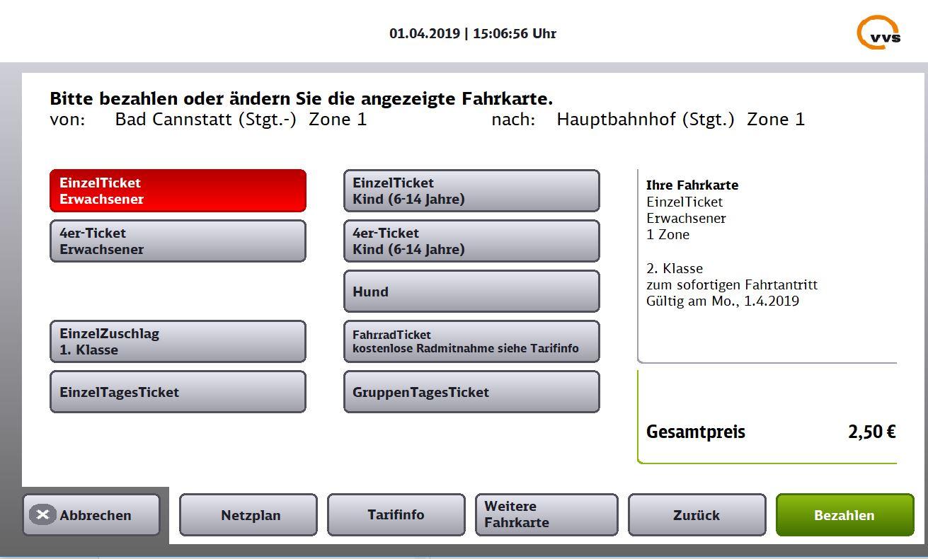 Tagesticket Stuttgart